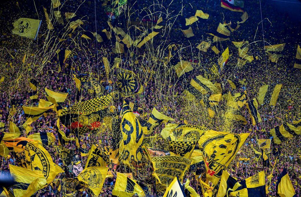 Die Dortmunder Südtribüne. Foto: AFP