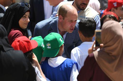 Prinz William trifft Flüchtlinge aus Bürgerkriegsland Syrien