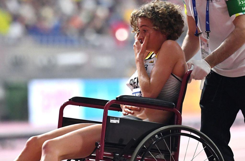 Alina Reh litt beim Laufen an plötzlichen Bauchkrämpfen. Foto: AFP/JEWEL SAMAD