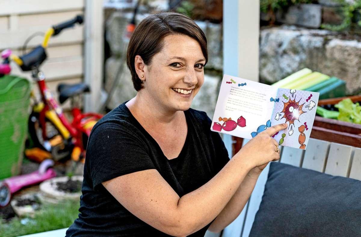 Ulrike Rapp hat ein Buch für die eigenen Kinder geschrieben –  jetzt ist es auch Lektüre  in den Kitas. Foto: factum/Andreas Weise