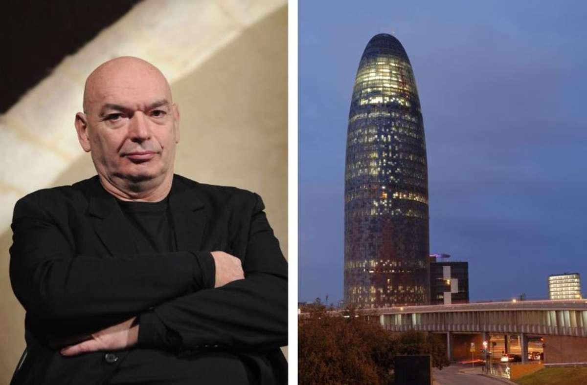 Erfinder spektakulärer Baukörper wie dem Torre Agbar in Barcelona: der Architekt Jean Nouvel. Weitere seiner Bauten finden Sie in unserer Bildergalerie. Foto: imago stock&people
