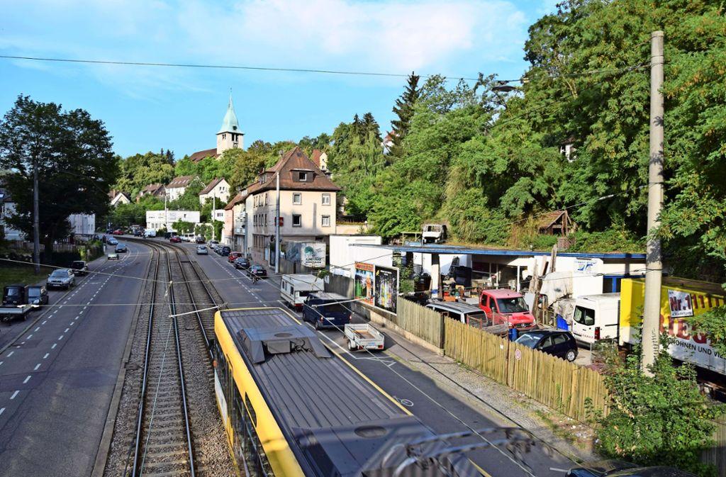 Kaltental wird von der Böblinger Straße in zwei Teile getrennt. Foto: Alexandra Kratz