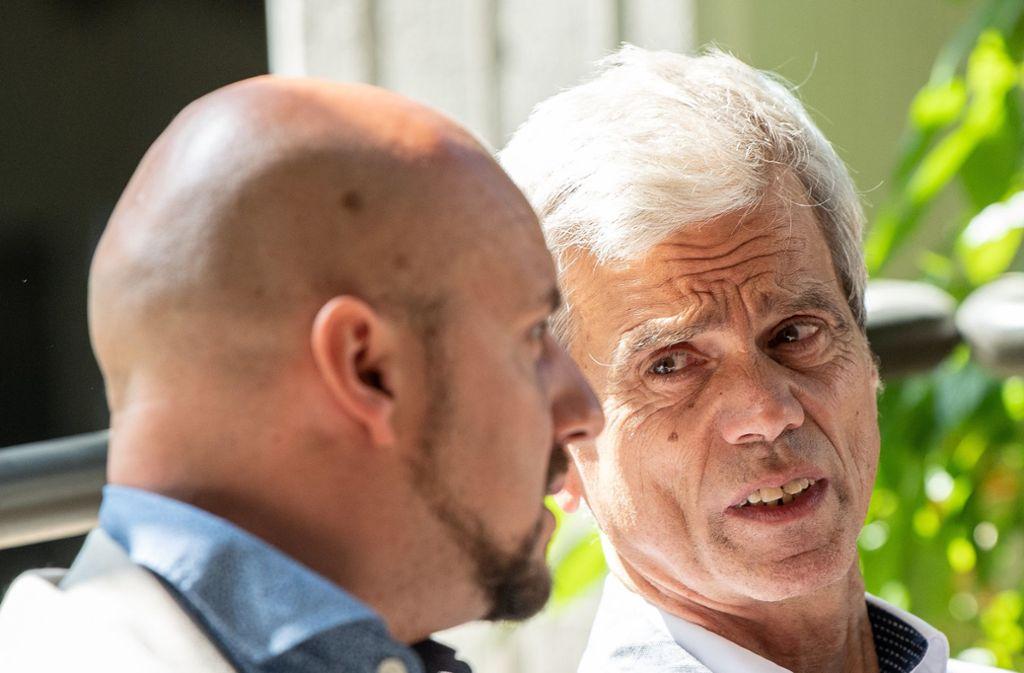 Stefan Räpple (links) und Wolfgang Gedeon wurden nach Ansicht des Gerichts völlig rechtens ausgeschlossen. Foto: dpa