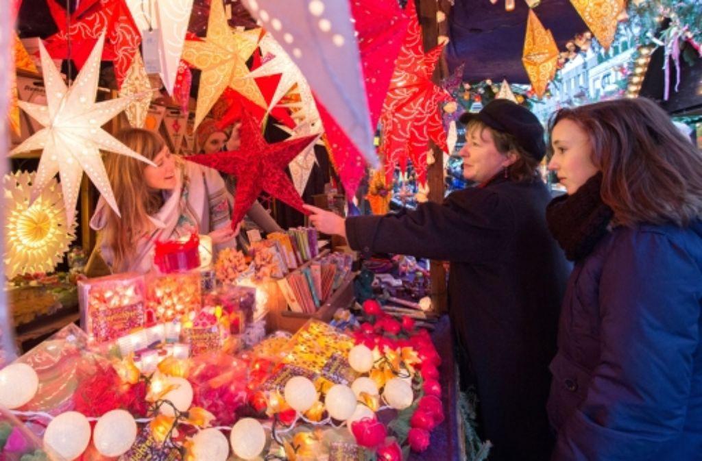 Rund vier Millionen Gäste haben den Weihnachtsmarkt in Stuttgart besucht. Foto: Michael Steinert