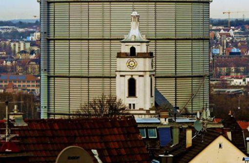 Risse im Hang unter der Gaisburger Kirche