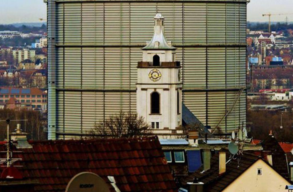 Die Gaisburger Kirche wird wegen Rissen messtechnisch überwacht. Foto: Jürgen Brand