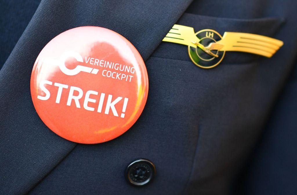 Die Piloten der Lufthansa befinden sich im Streik. Foto: dpa