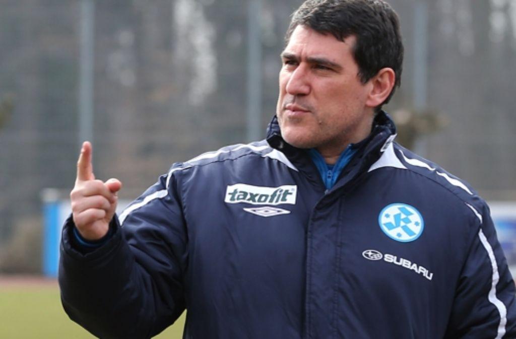 Massimo Morales ist nicht mehr Trainer der Stuttgarter Kickers. In der folgenden Bilderstrecke zeigen wir die bisherige Karriere von Morales. Foto: Pressefoto Baumann