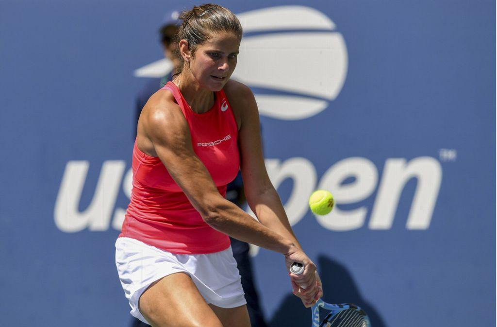 Julia Görges spielt in New York bei den US Open stark wie lange nicht mehr. Foto: AP