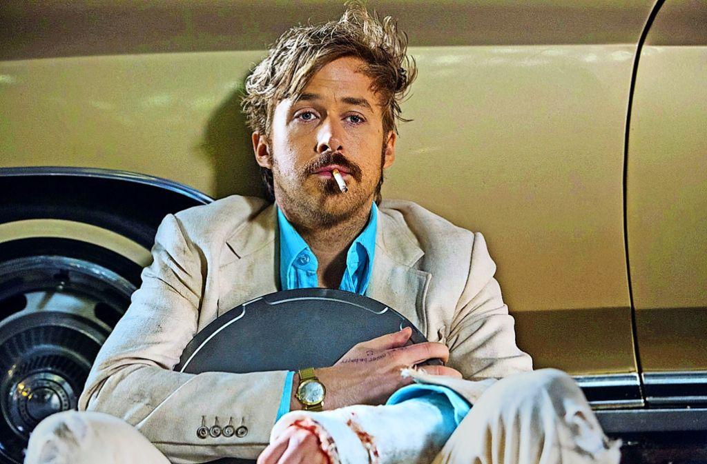 Ryan Gosling als Ermittler, der den Mord an einer Pornodarstellerin aufklären will. Foto: Concorde Filmverleih