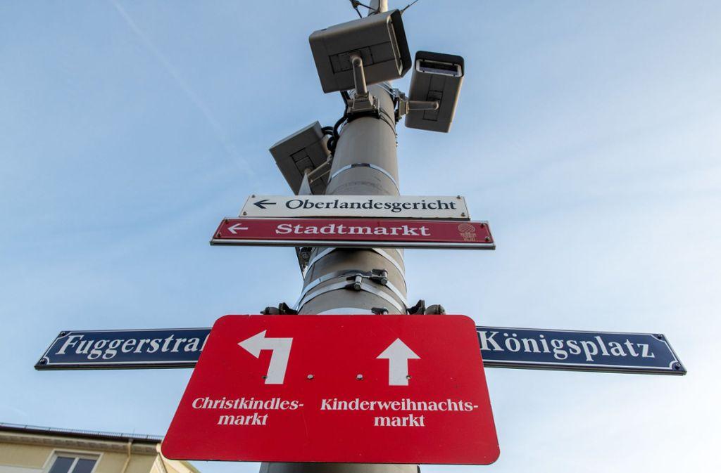 Am Augsburger Königsplatz wurde ein Mensch getötet. Foto: dpa/Stefan Puchner