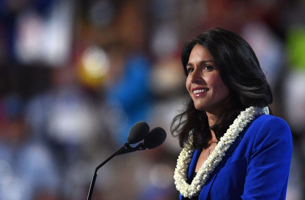 Will für die US-Demokraten als Präsidentschaftskandidatin antreten: US-Kongressabgeordnete Tulsi Gabbard. Foto: AFP