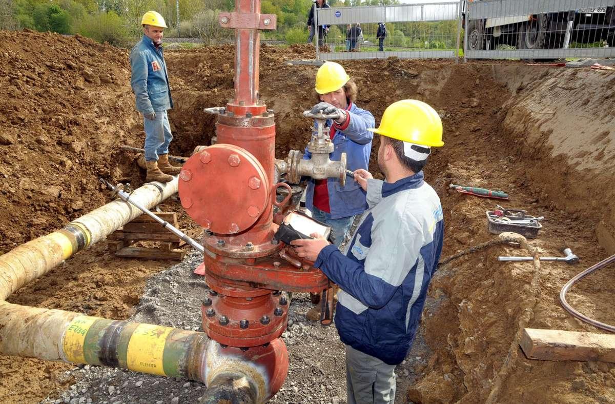 In offener Bauweise lässt die Netze-BW das Gasleitungsnetz in Schönaich erweitern. Foto: Kreiszeitung Böblinger Bote/Archiv