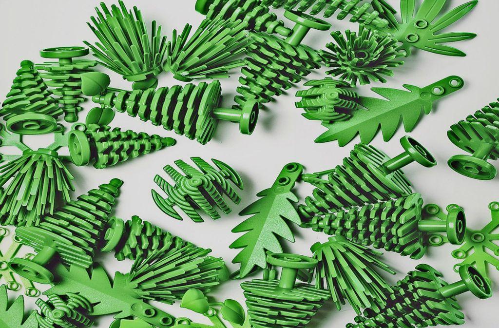 Diese  Lego-Plastikbäume sind aus  Bioplastik hergestellt. Foto: Maria Tuxen Hedegaard