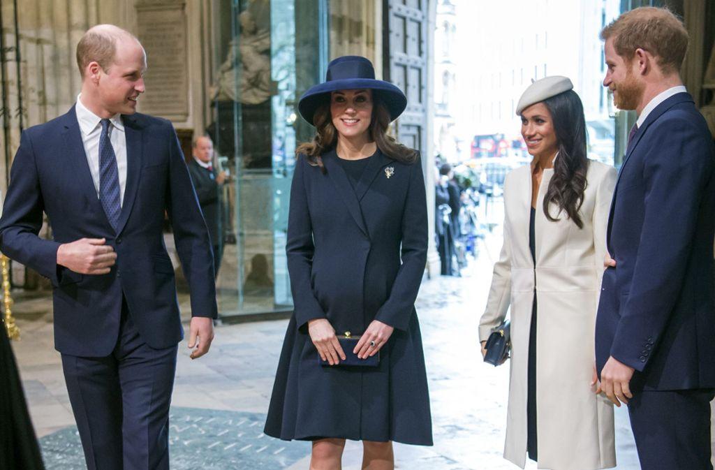 Junge Royals unter sich: Prinz William und Herzogin Kate, Meghan Markle und Prinz Harry (von links). Foto: Daily Telegraph pool