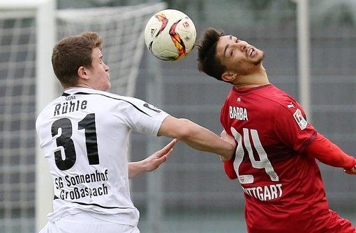 VfB-Neuzugang Barba in Testspiel verletzt