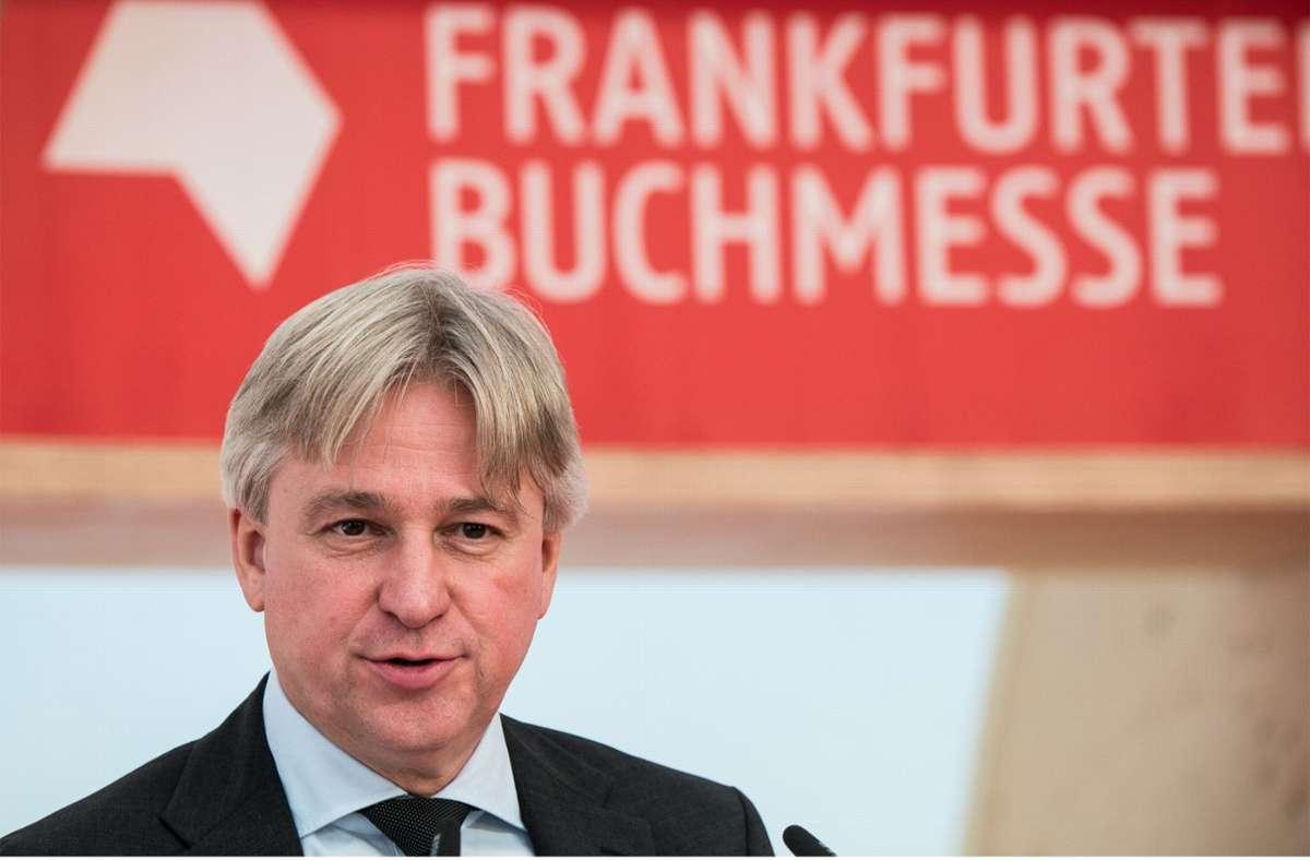 Juergen Boos prophezeit  dauerhafte Veränderungen. Foto: dpa/Andreas Arnold
