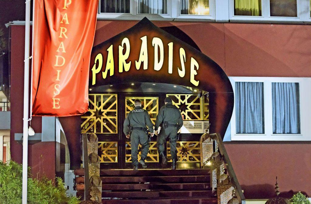 """Seit mehr als 40 Tagen wird über den FKK-Club """"Paradise"""" verhandelt. Foto: 7aktuell.de/Eyb"""