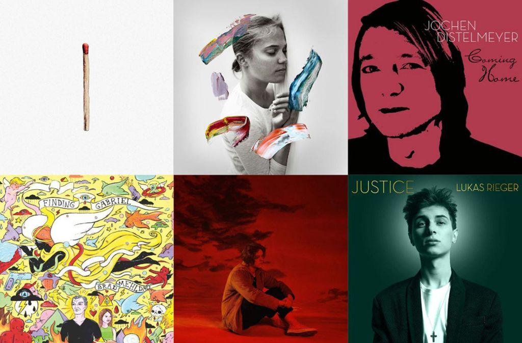 Leicht rötlich, aber doch bunt: Einige der neuen Alben in dieser Woche Foto: Labels