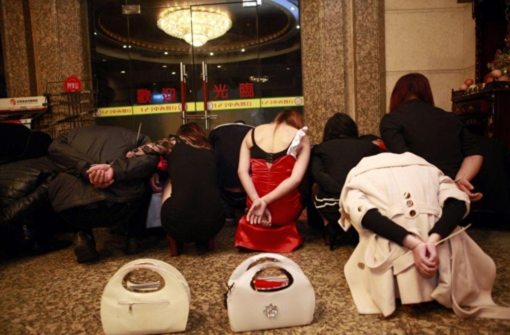 Razzia in Dongguan: Die Behörden gehen verstärkt gegen Prostitution vor. Foto: dpa
