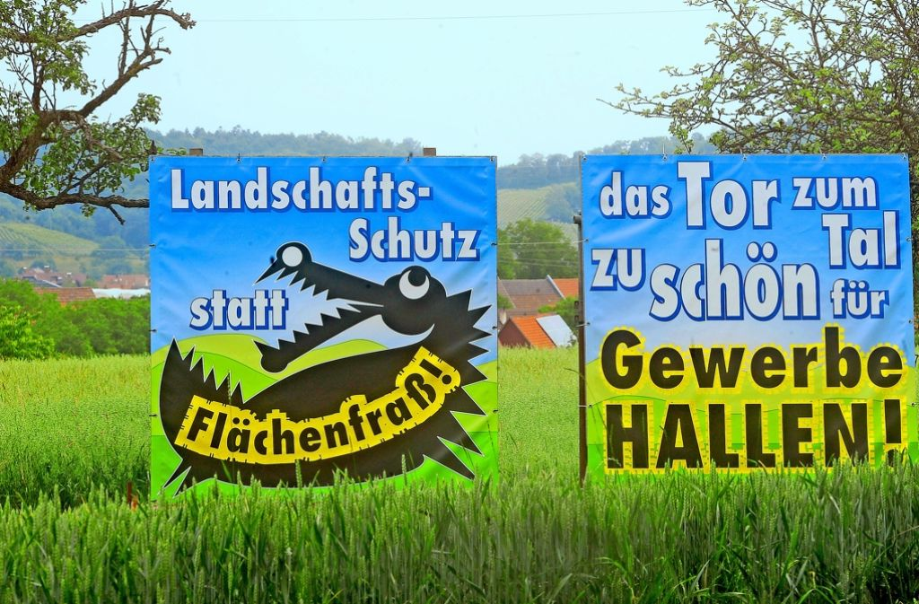 Erfolgreicher Protest: Beim Holzweiler Hof  in Großbottwar im Kreis Ludwigsburg ist kein Platz für Gewerbe und Industrie. Foto: Kuhnle