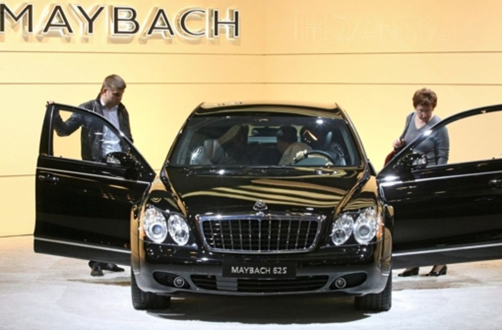 Maybach-Stand auf der Internationalen Automobilausstellung in Moskau. Foto: EPA
