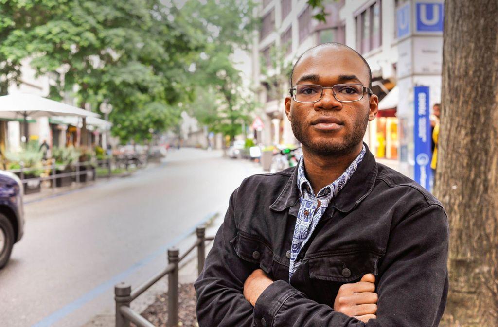 Lionel Njoya glaubt, dass seine Generation viel bewirken kann. Foto: Lichtgut/Max Kovalenko