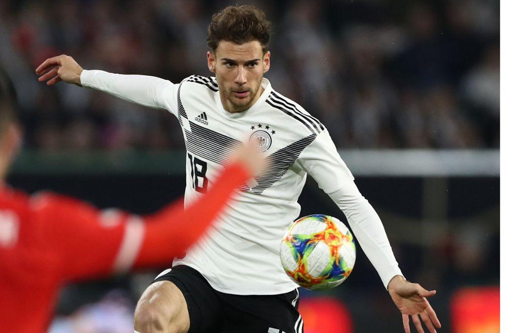 Sein Treffer rettete der DFB-Elf das 1:1: Mittelfeldspieler Leon Goretzka vom FC Bayern München. Sehen Sie in unserer Bildergalerie, wie unsere Redaktion die DFB-Akteure in der Einzelkritik bewertet. Foto: dpa