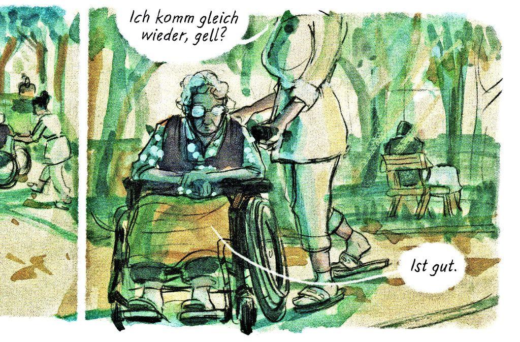 Abgestellt zu werden ist die grundlegende Alterserfahrung von Gerda Wendt. Foto: Reprodukt