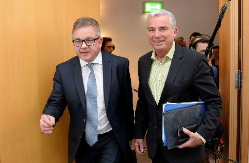 Schulterschluss beim Thema DNA-Analyse:  CDU-Minister Guido Wolf (links), Thomas Strobl Foto: dpa
