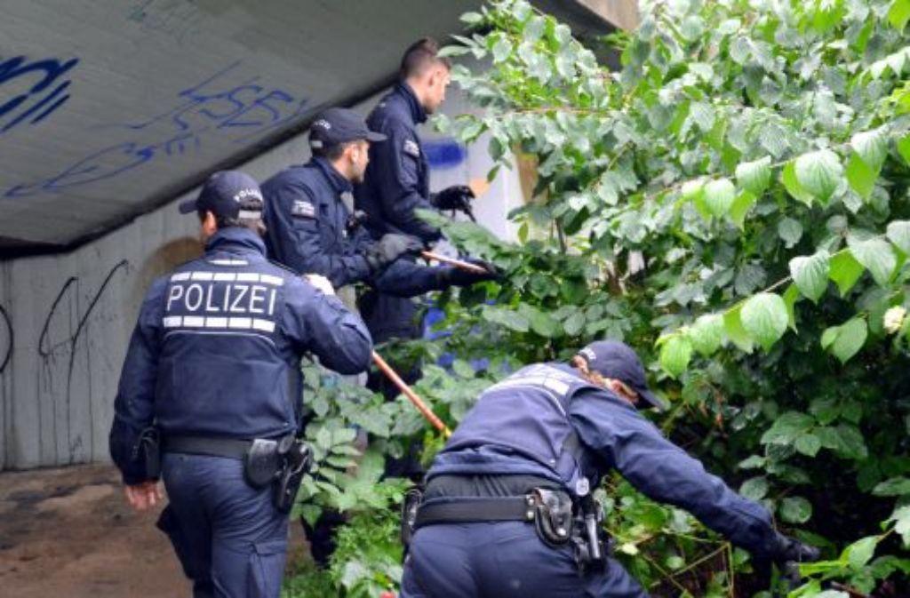 Polizisten durchsuchten am 6. Oktober in Mannheim das Gebiet rund um einen Tatort unter der Kurt-Schumacher-Brücke, an dem die getötete Austauschstudentin aus Litauen gefunden wurde (Foto). Nun konnte die Polizei einen Fahndungserfolg verzeichnen. Foto: dpa