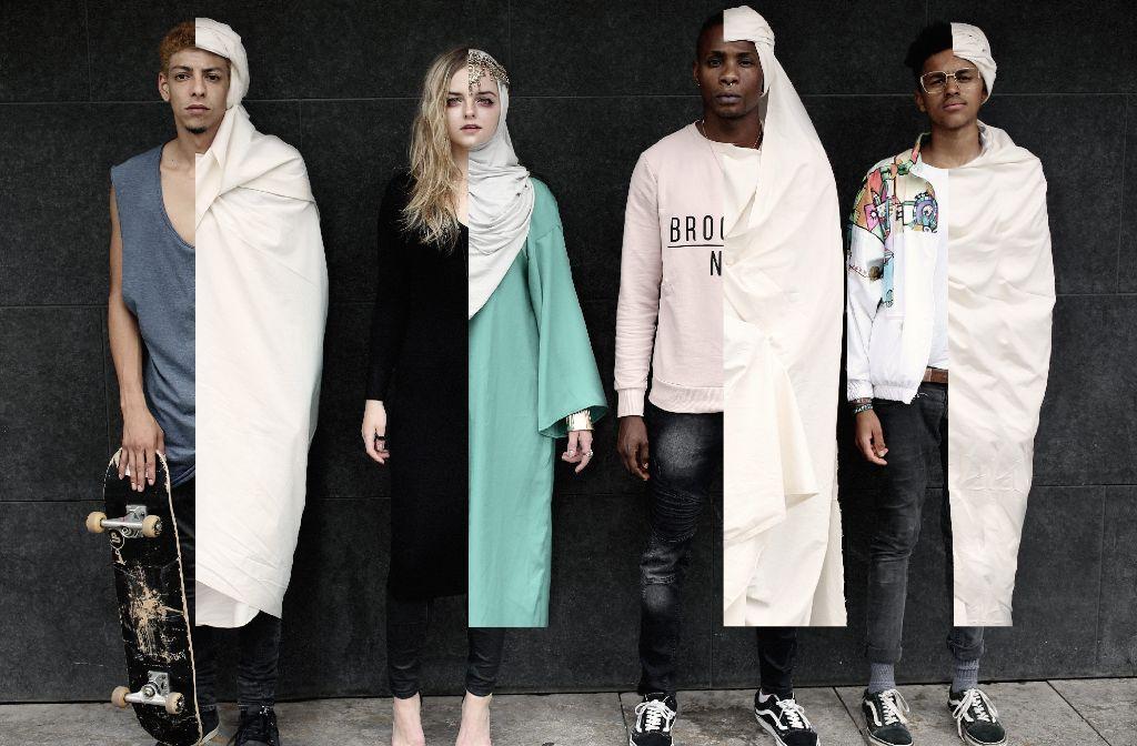 Zwei Modewelten treffen aufeinander - Fotograf Norman Munyendo will mit Development of Fashion zeigen, dass Kleidung nur oberflächlich ist. Was zählt ist der Mensch. Foto: Munyendo