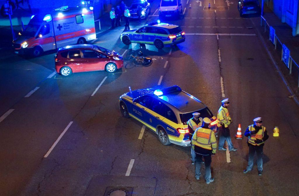 Die Fahrradfahrerin zog sich bei dem Unfall schwere Verletzungen zu. Foto: 7aktuell.de/Andreas Werner