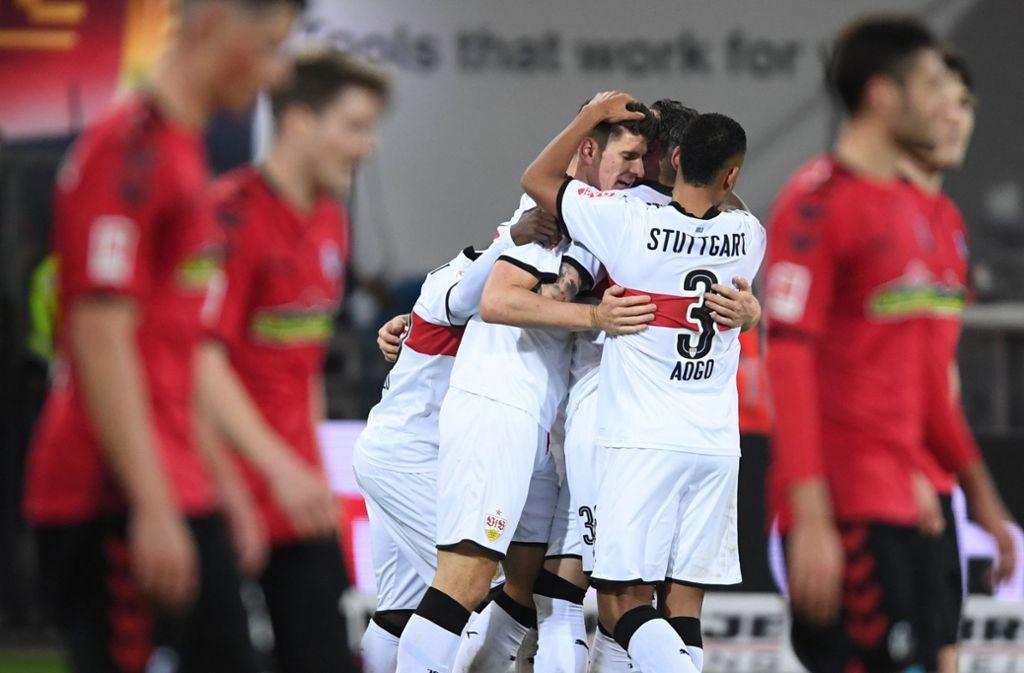 Bei der letzten Begegnung zwischen dem VfB Stuttgart und dem SC Freiburg durften die Schwaben jubeln. Foto: dpa