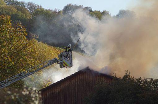 Feuerwehr rettet Hunde aus brennendem Haus