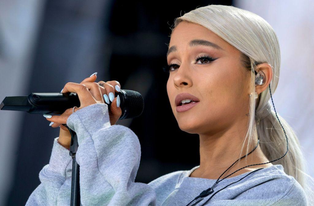 Ariana Grande bei einem Auftritt im März 2018 anlässlich einer Kundgebung zu Waffenkontrollen in den USA. Foto: AP