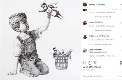 Banksy huldigt Krankenschwestern