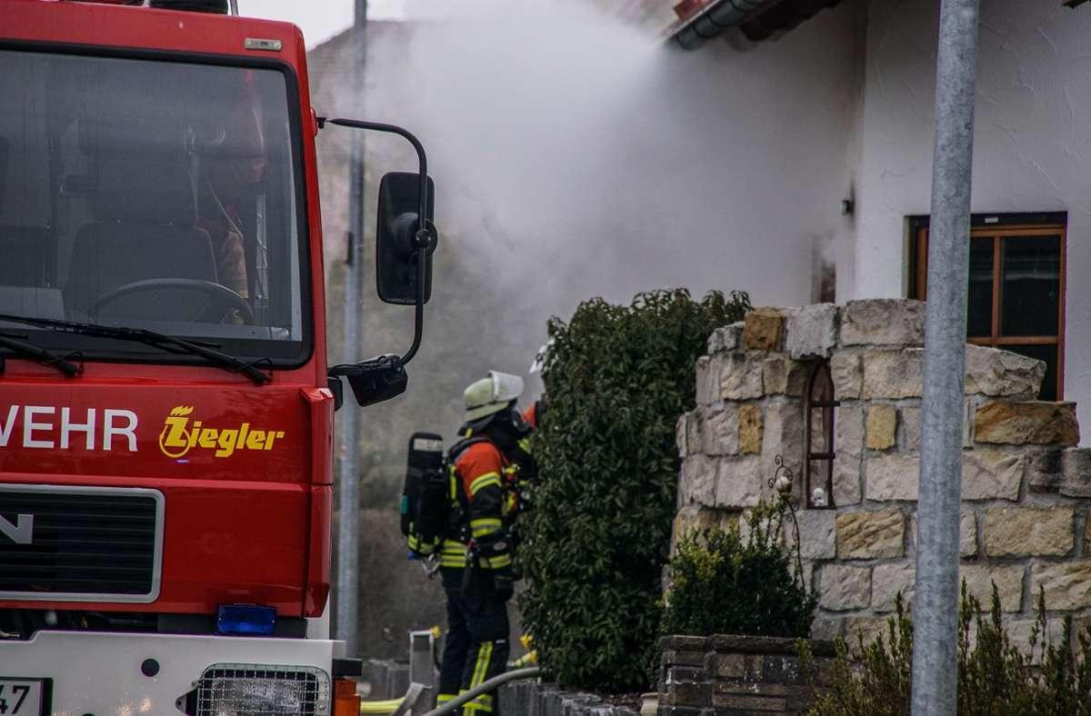 Im Keller eines Einfamilienhauses in Gültstein ist ein Brand ausgebrochen Foto: SDMG