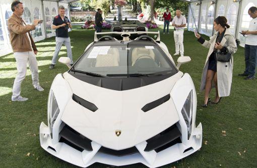 Beschlagnahmte Supersportwagen in Genf versteigert