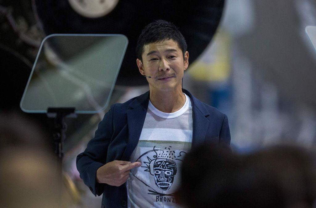 Freut sich auf seine lange Reise zum Mond: Milliardär Yusaku Maezawa. Foto: AFP