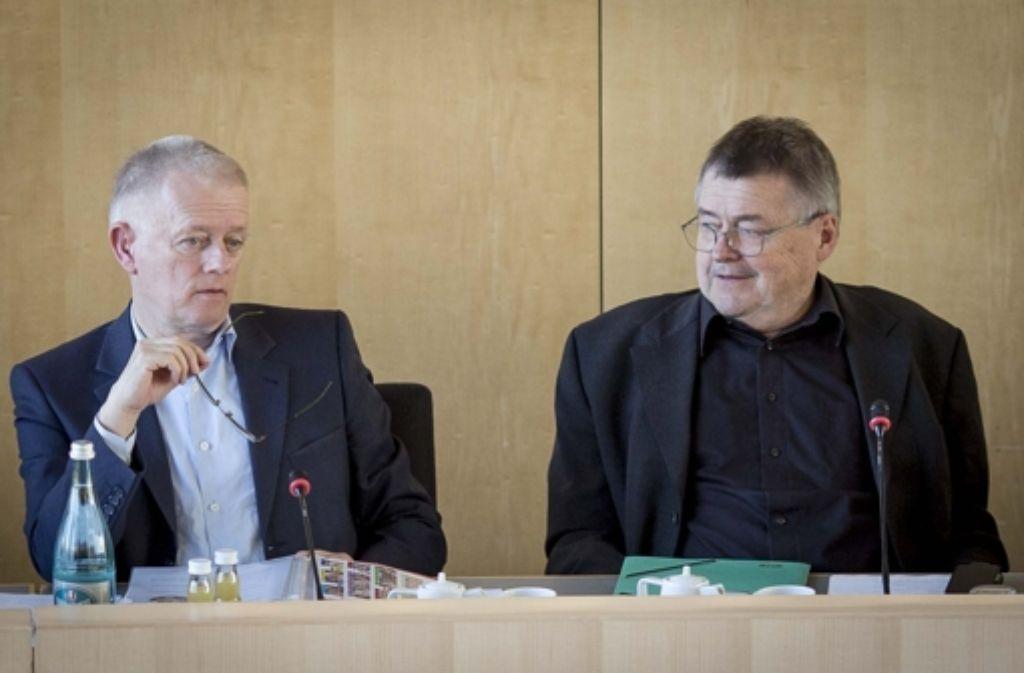 Matthias Hahn (rechts) wird Ende August als Baubürgermeister aufhören. Foto: Lichtgut/Leif Piechowski