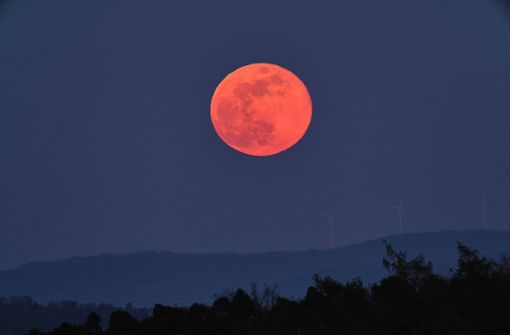 """Der """"Pink Moon"""" ist ziemlich orange"""