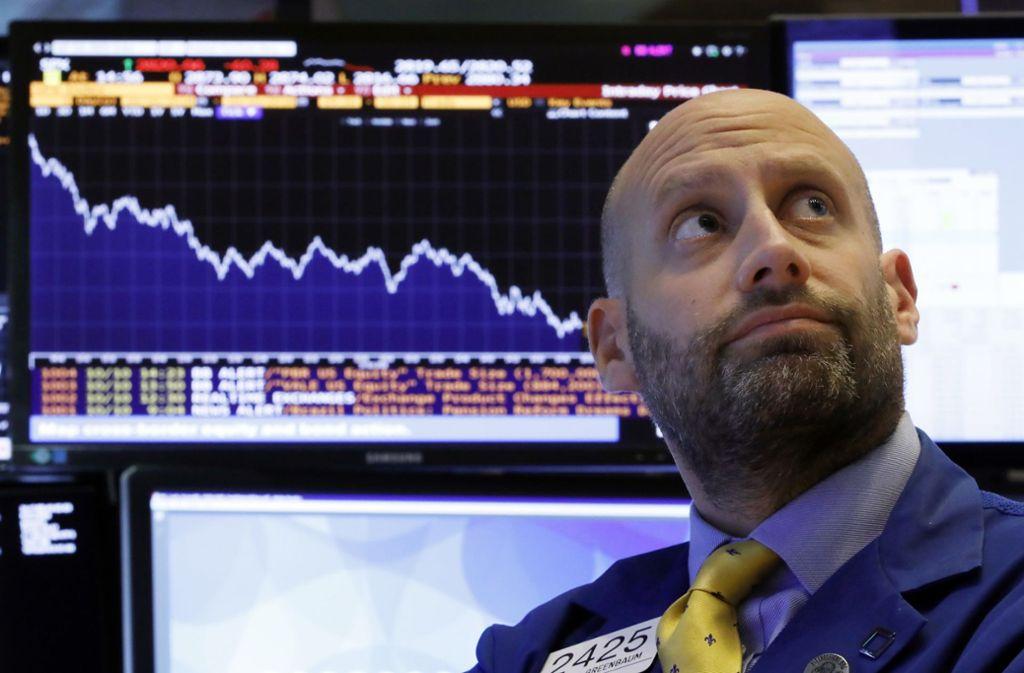 Die Händer an der Wall Street trauten ihren Augen kaum. Foto: AP
