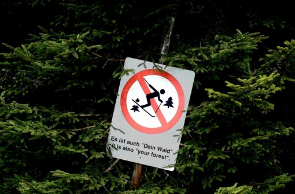 Die Gegner des Nationalparks warnen vor zu vielen Beschränkungen und Verboten – etwas beim Skifahren. Foto: dpa