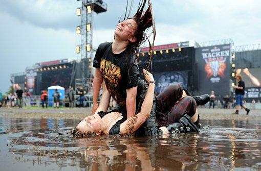 Wacken-Festival wird zur Schlammschlacht