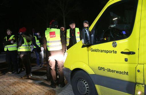 Geldtransporter-Fahrer streiken in Baden-Württemberg