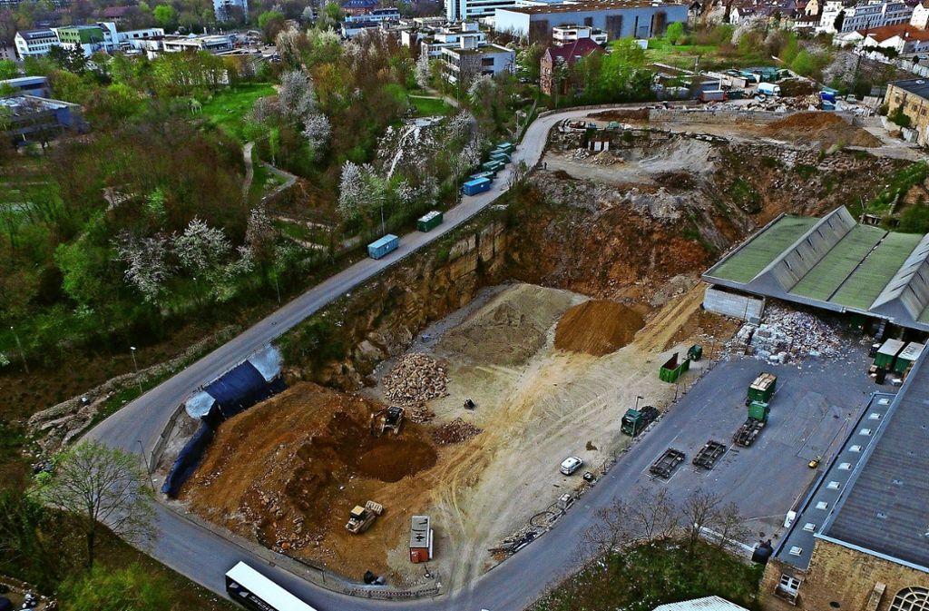 Derzeit wird auf dem Gelände des Recyclingparks eifrig gebaut. Foto: