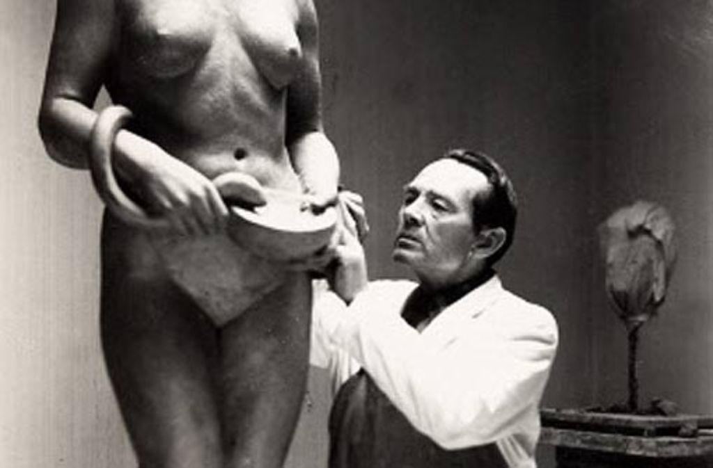 Der Bildhauer Gerhard Halbritter hat wunderschöne Kunstwerke geschaffen. Foto: Repro: Horst Rudel