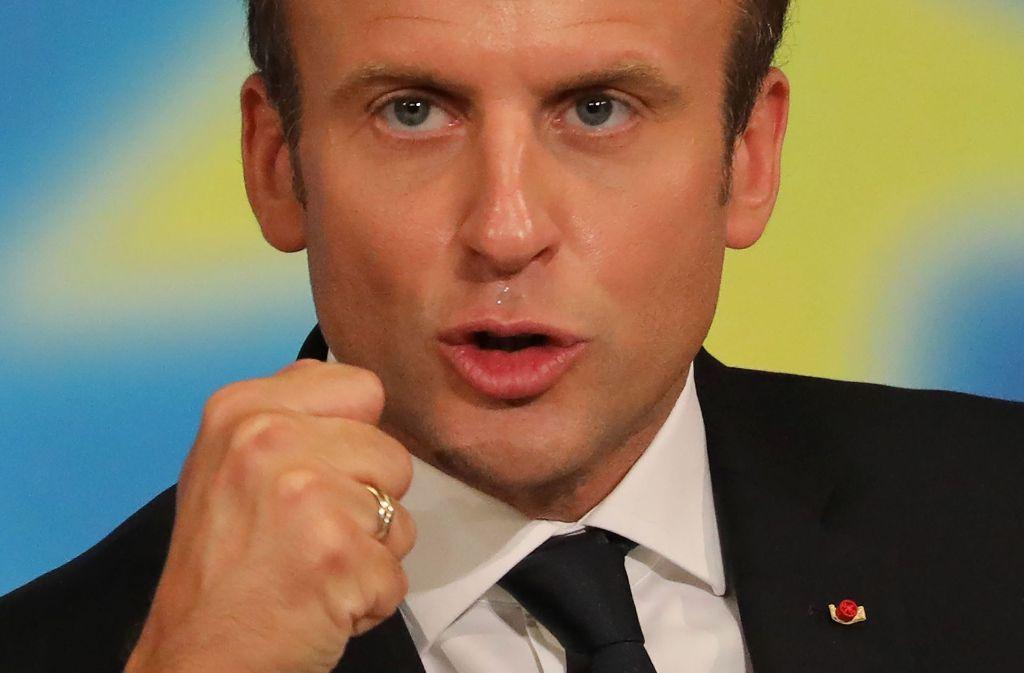 Der französische Präsident Macron will in Europa forsch voranschreiten. Foto: AFP