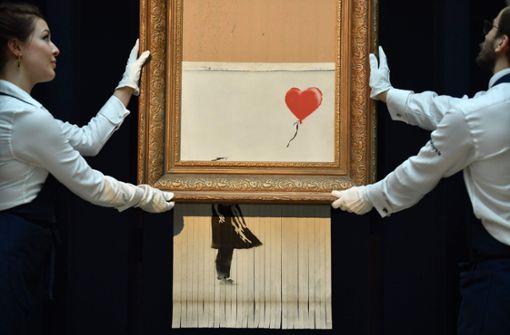 Banksys Schredderbild kommt dauerhaft nach Stuttgart